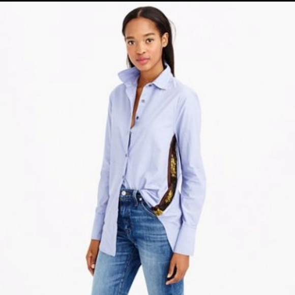 J. Crew Tops - Jcrew button down with sequins!